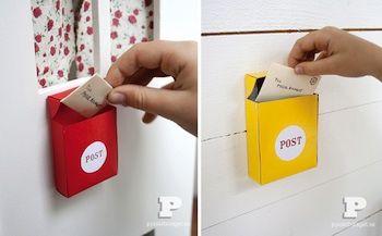 Pysselbolaget Miniature Post Office Box Diy Mailbox Diy For Kids Crafts For Kids