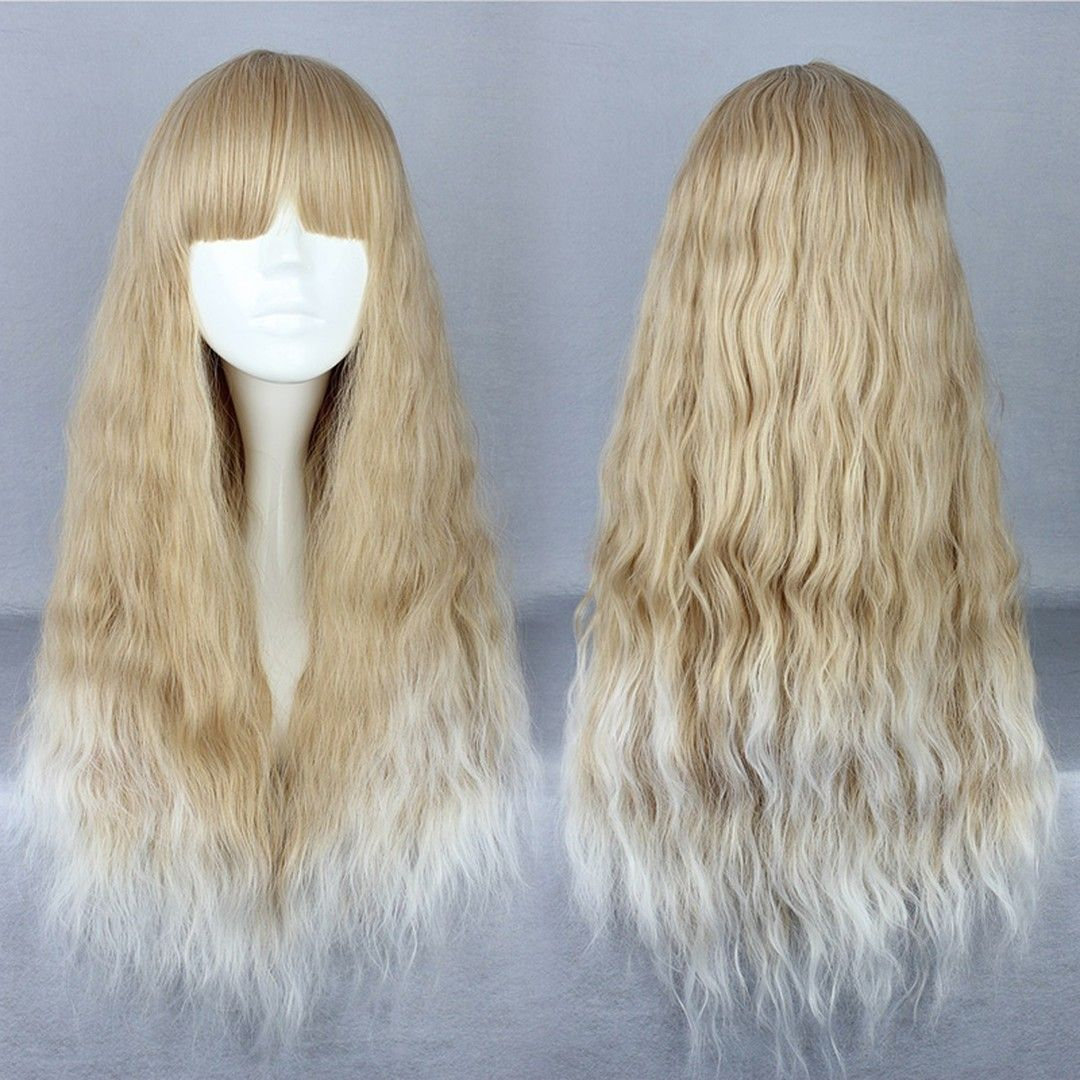 Japanese Lolita Style Long Wave Mixed Color Cosplay Wigs