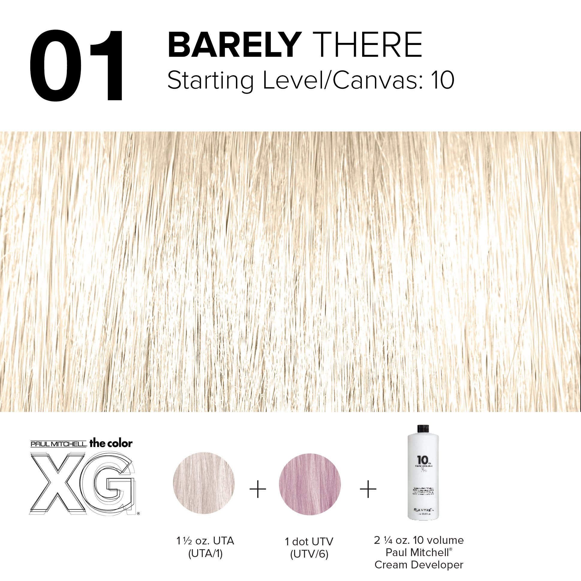 01 Barely There Paul Mitchell Color Hair Color Formulas Paul Mitchell