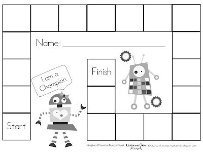 My Shae Noel - Home of Learn and Grow Designs Blank Gameboards - blank reward chart template