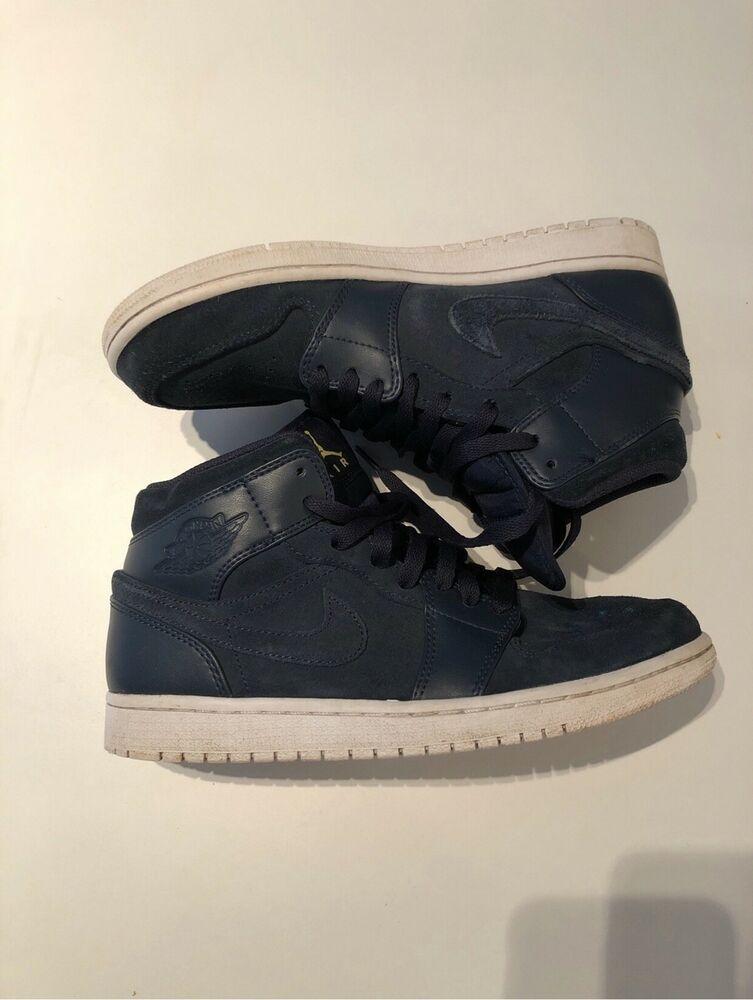 8 421 554724 Nike Size 1 Jordan Mid Armory Shoes Navy Basketball Air jRL54qA3