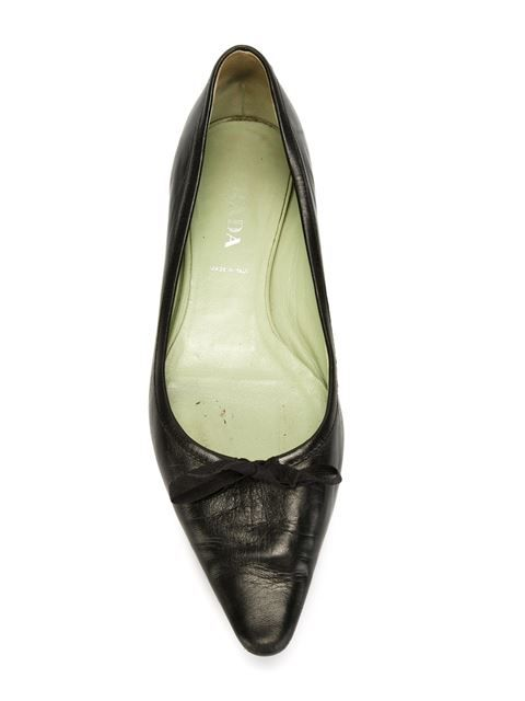 Shop Prada Vintage pointed toe ballerinas in A.N.G.E.L.O Vintage from the world's best independent boutiques at farfetch.com. Shop 400 boutiques at one address.