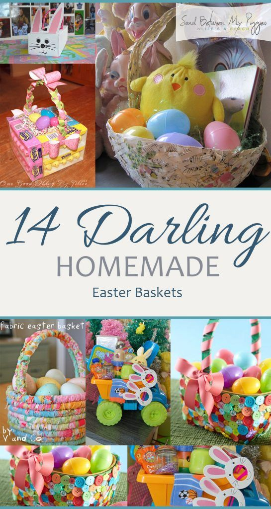 14 Homemade Easter Baskets Sand Between My Piggies Homemade Easter Baskets Easter Basket Diy Unique Easter Baskets