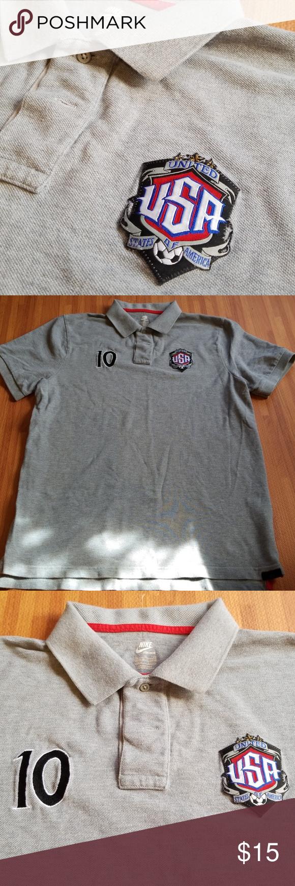 Soccer Usa Polo Shirt Xl Polo Shirt Clothes Design