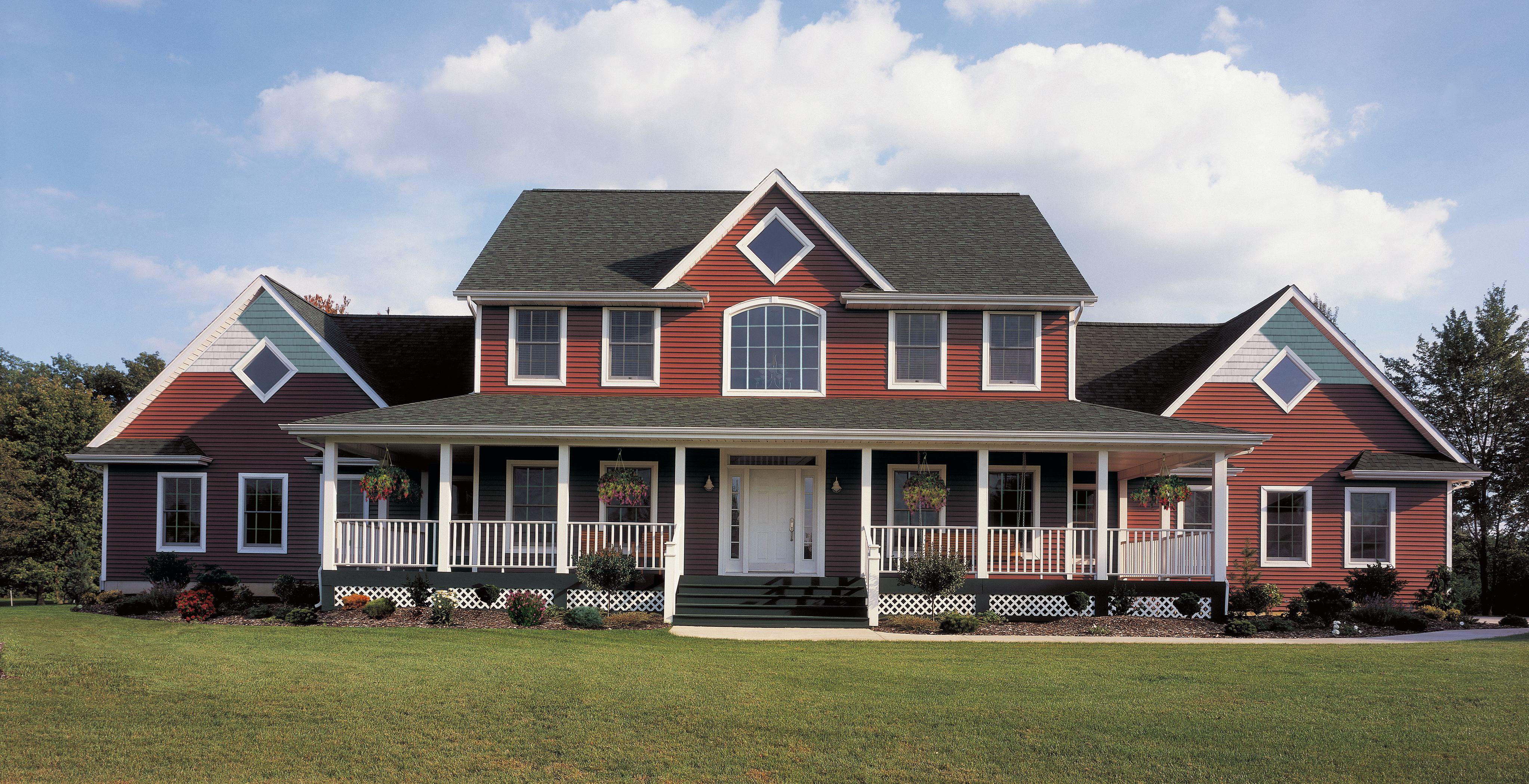Certainteed Siding Monogram Barn Red House Paint Design House Paint Exterior House Designs Exterior