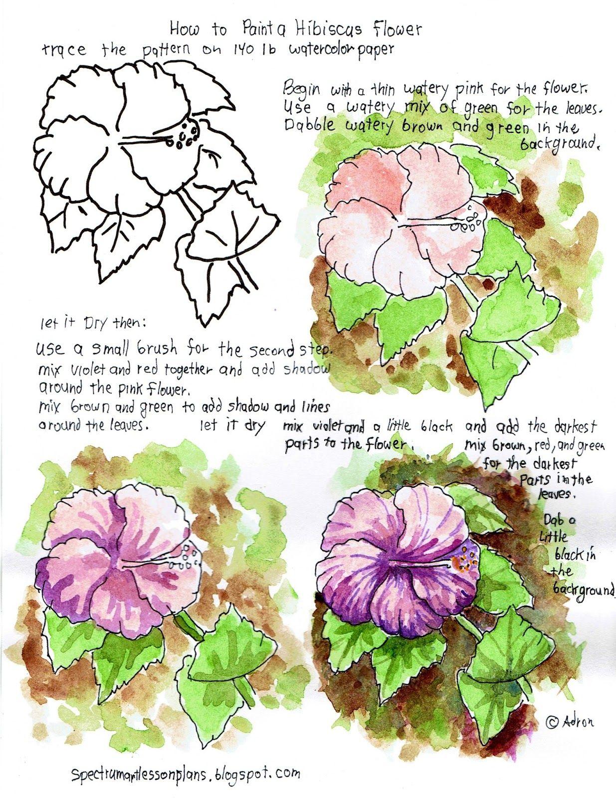 Adron S Art Lesson Plans Printable Art Lesson And