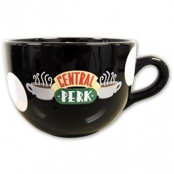 Una taza para los fanáticos de la serie de tv Friends.