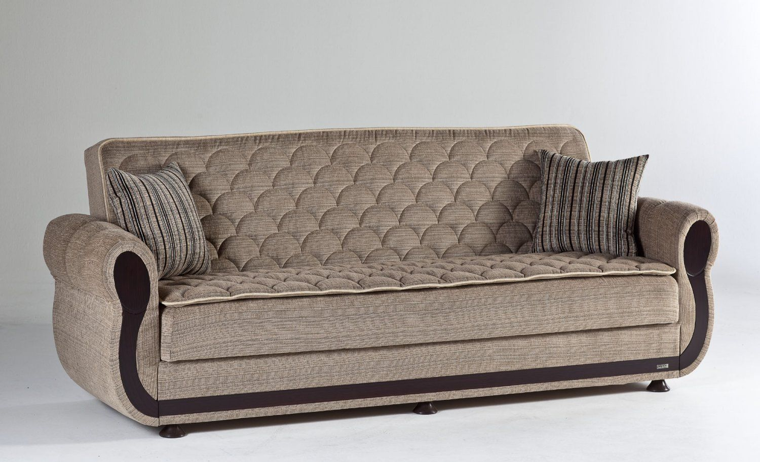 Argos in Zilkade Lt Brown Sleeper Sofa  by Sunset