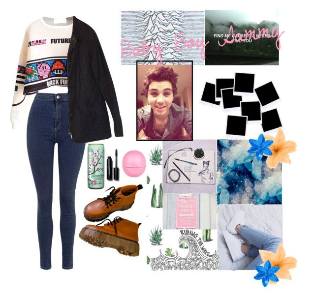 """""""Baby boy Sammy"""" by these-o2l-chicks ❤ liked on Polyvore featuring Topshop, Barbour, adidas, Bobbi Brown Cosmetics, River Island and briannapottorff"""