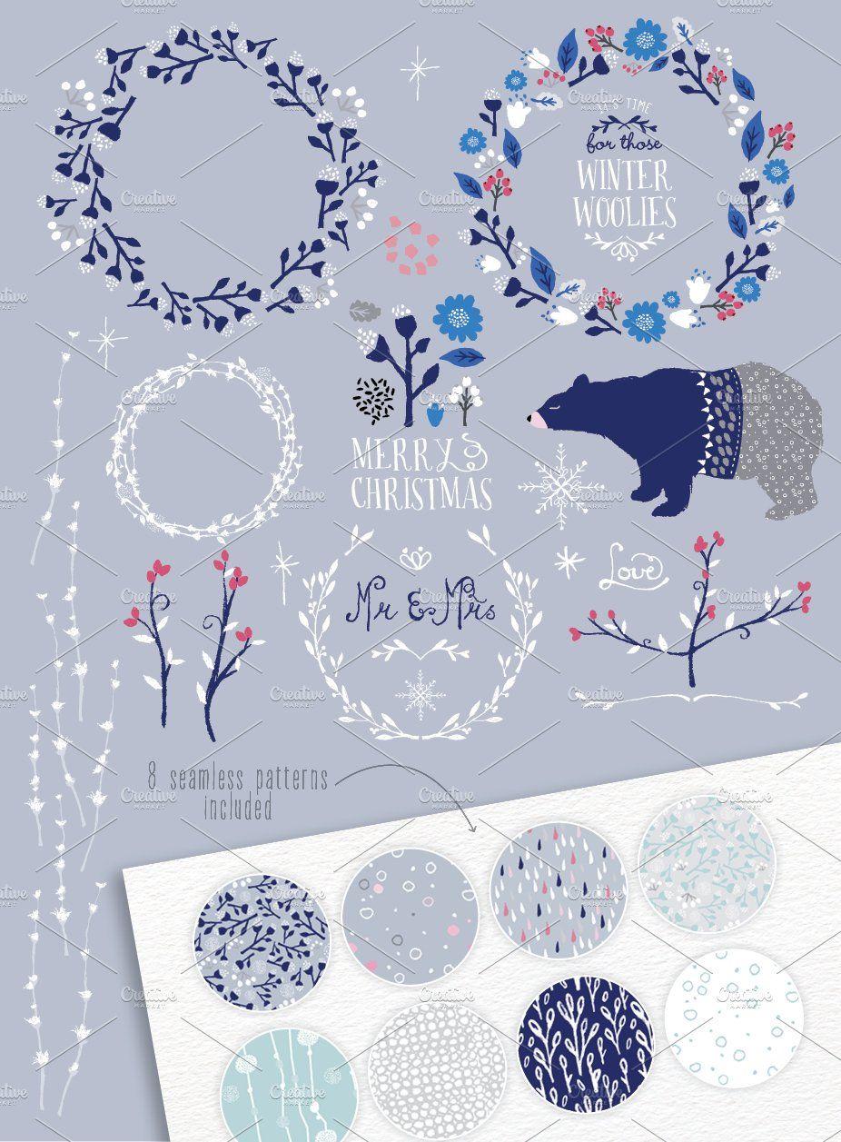 Winter Wonderland Designer's Toolkit ~ Illustrationen ~ Kreativmarkt   – Winter
