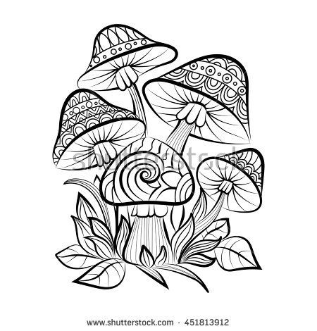 trippy coloring pages mushrooms nutrition - photo#41