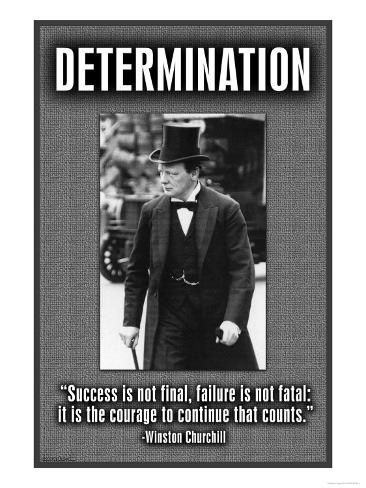 Size: 24x18in DeterminationChoose from our catalog of over 500,000 posters! This product is reproduced from a publication, advertisement, or vintage print. In an effort to maintain the artistic accuracy of the original image, this final product has not been retouched.