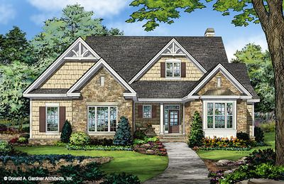 Home Plan The Tucker By Donald A Gardner Architects New House Plans Ranch Style House Plans Craftsman House Plans