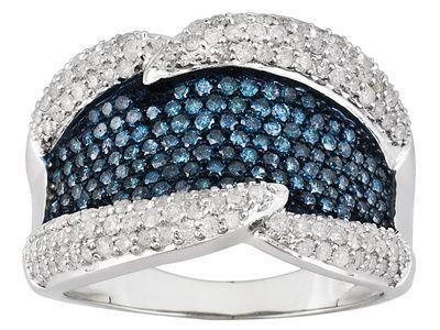 White And Blue Velvet Diamond ™ Ring
