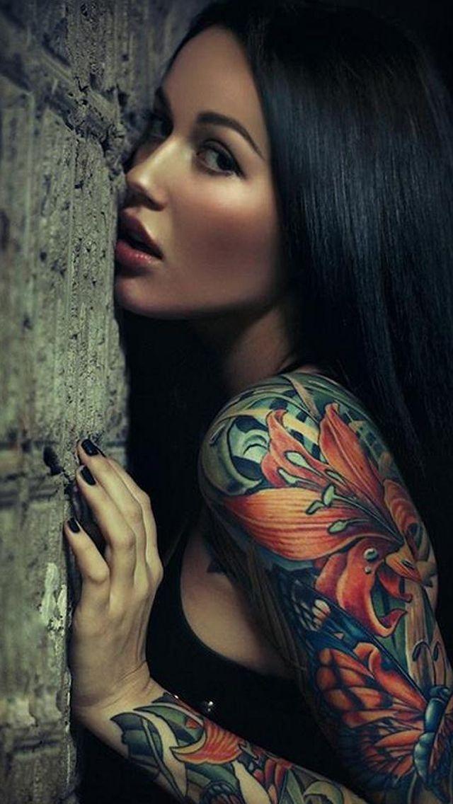 Sexy Sleeve Tattoo Girl Iphone 5 Wallpaper Tattoos Sexy Tattoos