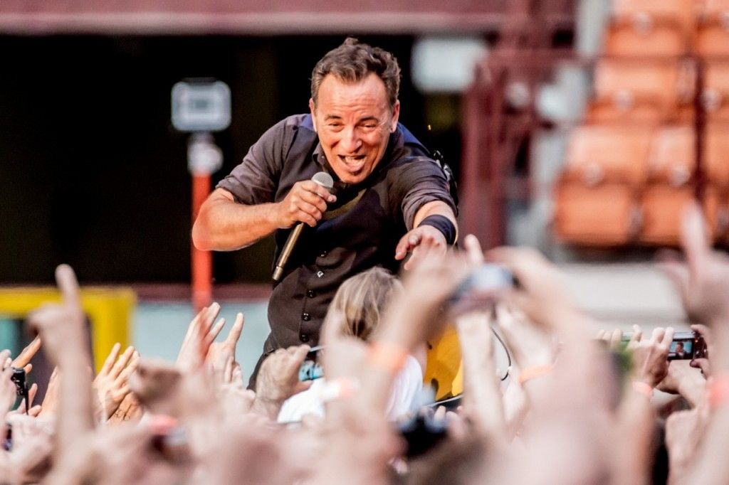 Bruce Springsteen performs live with The E Street Band in Milan