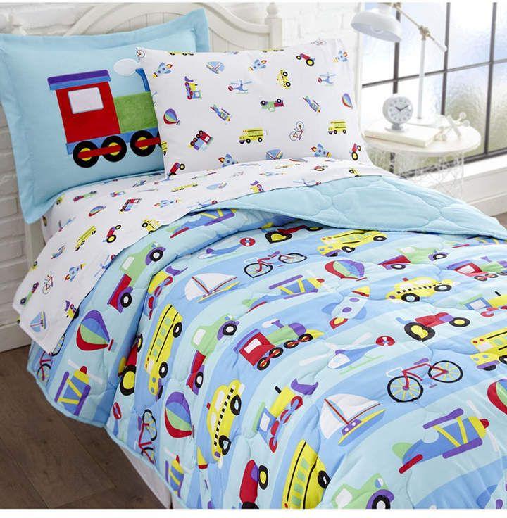 Wildkin S On The Go Sheet Set Full Bedding In 2020 Twin Bed Sets Full Comforter Sets Comforter Sets