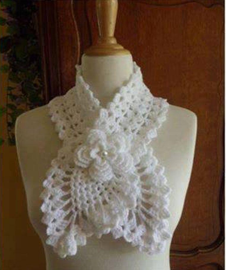 Increíble Crochet Patrón De Bufanda Subordinado Modelo - Manta de ...