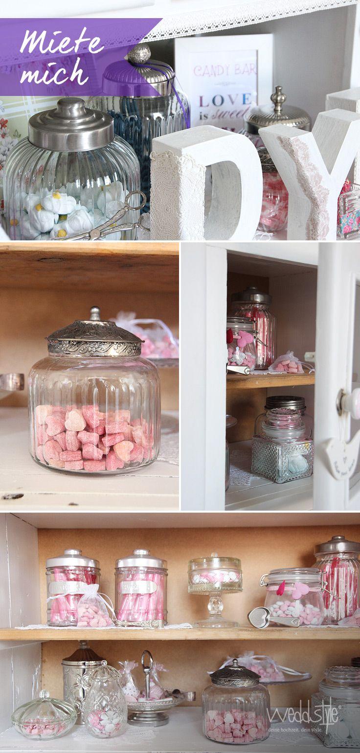 rustic vintage wedding candy bar weddstyle pink rosa. Black Bedroom Furniture Sets. Home Design Ideas