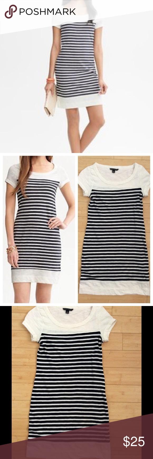 9afff4a5d Banana Republic Striped Tee Shirt Dress Super cute and very comfortable tee  shirt dress. Add