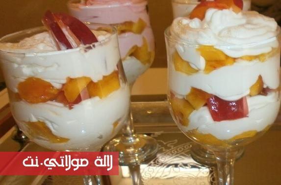 ديسير بارد بالياغورت والفواكه روعة Food Desserts Pudding