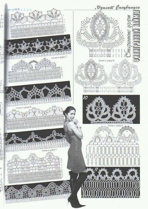 Crochet: lace motifs