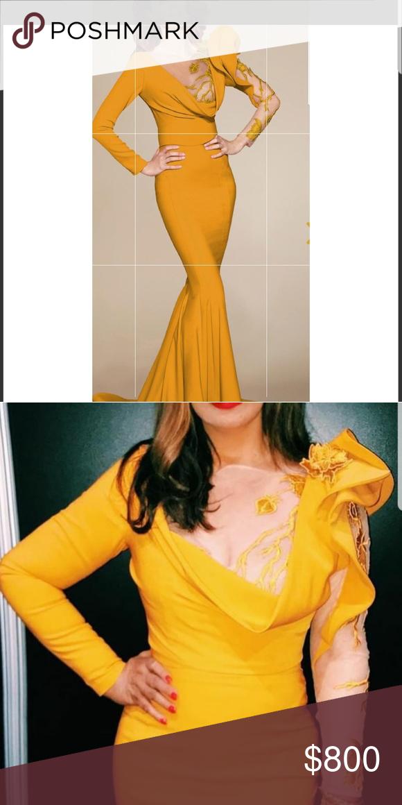 d1aad4a2879a0f NWT Fouad Sarkis Dress GORGEOUS MUSTARD YELLOW/GOLD FORMAL DRESS Fouad  Sarkis Dresses Maxi