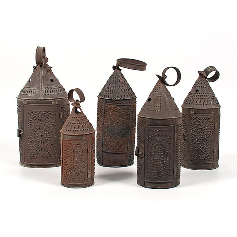 Punched Tin Lanterns Punched Tin Lanterns Primitive Decorating Country