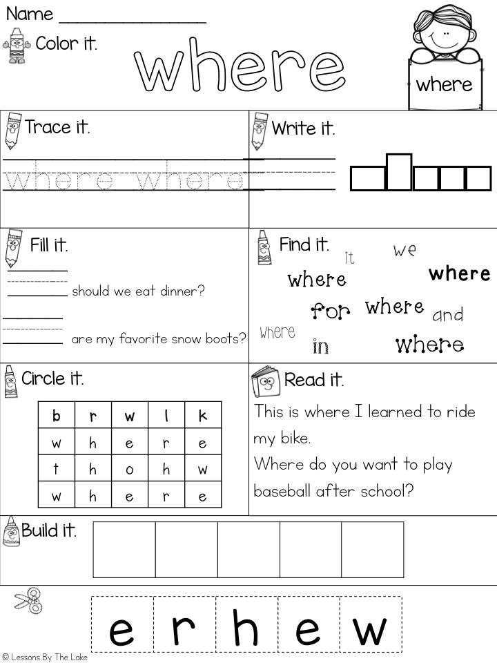 Sight Word Preprimer Dolch Words No Prep Interactive Worksheets Sight Words Kindergarten Teaching Sight Words Sight Words
