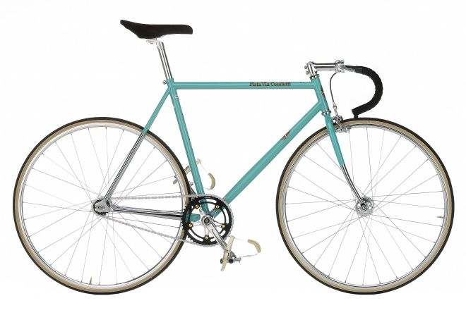 Spring colored fixed gear by Bianchi
