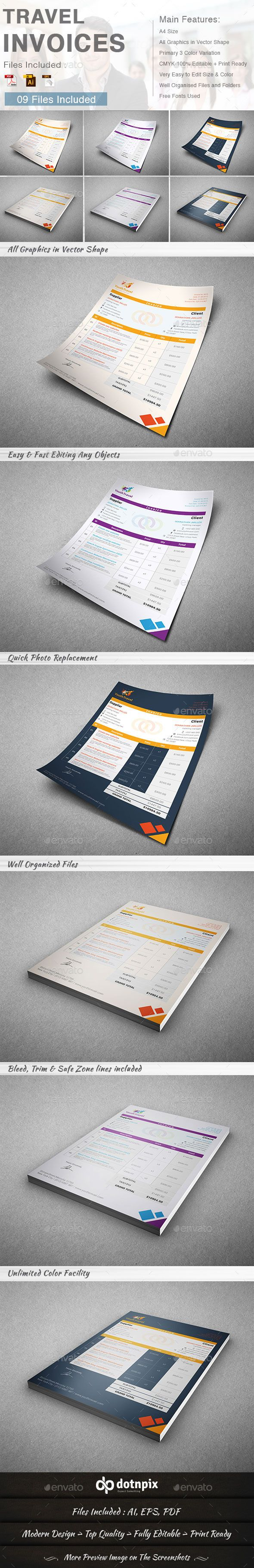 Travel Invoice Template | Buy and Download: http://graphicriver.net ...