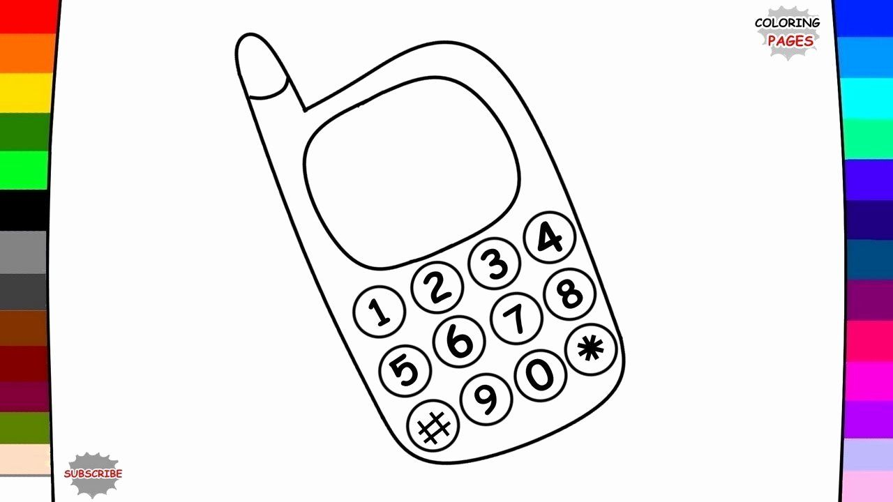 Cell Phone Coloring Page Elegant Cell Phones Drawing At Getdrawings Coloring Pages Coloring Pages Inspirational Curious George Coloring Pages