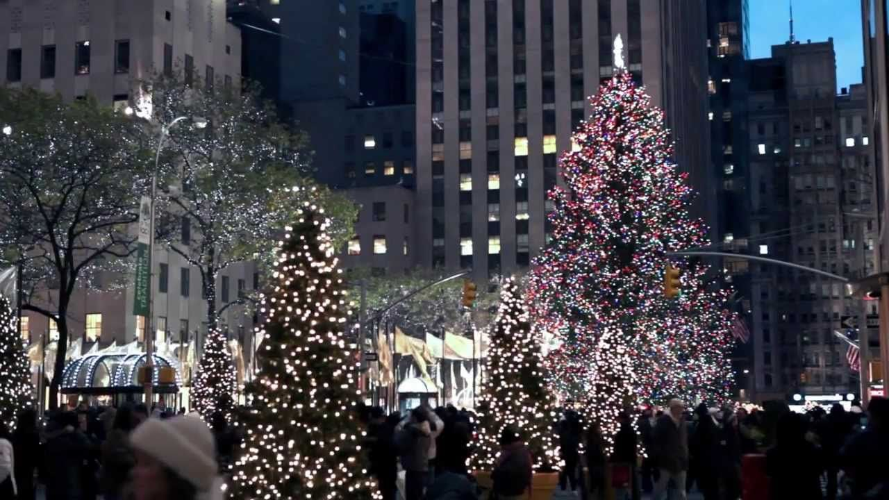Christmas lights and decorations in New York City | Christmas Videos ...