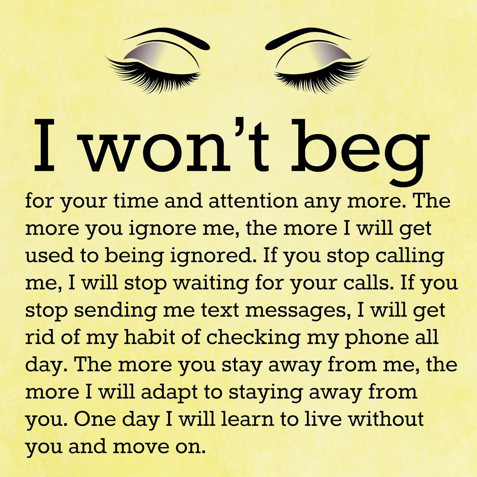 One Day I Will Move On…