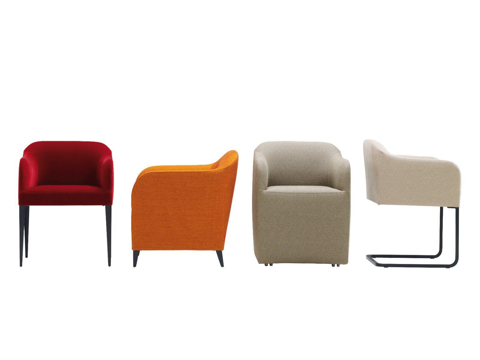 Chaise en porte-à-faux en tissu avec accoudoirs LUCA SOFT by ROSET ITALIA design Jean-Philippe Nuel