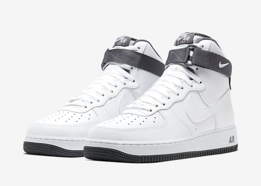 Nike Air Force 1 High '07 White Charcoal CD0910 100 Release
