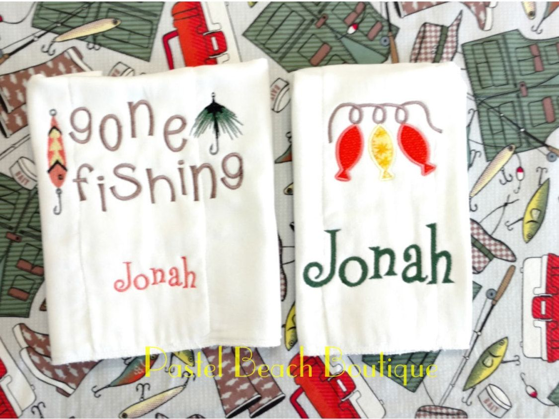 Fishing burp cloth personalized burp cloth baby boy burp fish fishing burp cloth personalized burp cloth baby boy burp fish receiving blanket negle Gallery
