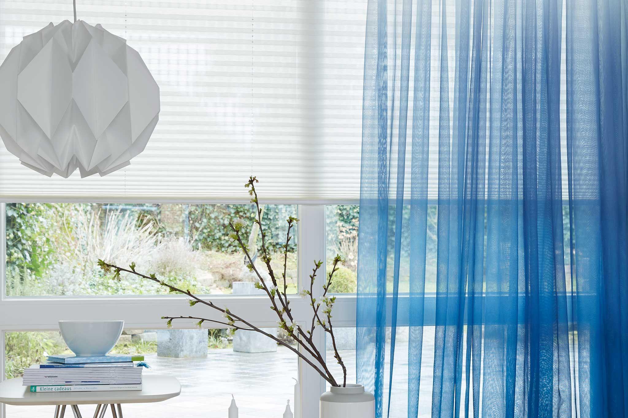 Blauwe inbetween #gordijnen van Toppoint. #blue #curtains | Mijn ...