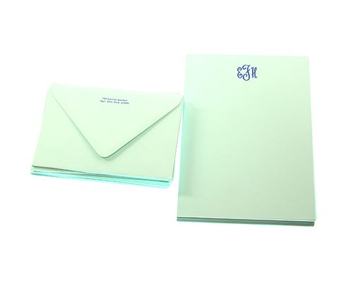 Betty Robin's Egg Blue Stationery (Francis) - Current price: $75