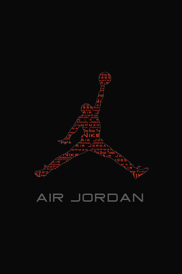FREEIOS7 | air-jordan-logo - parallax HD iPhone iPad wallpaper