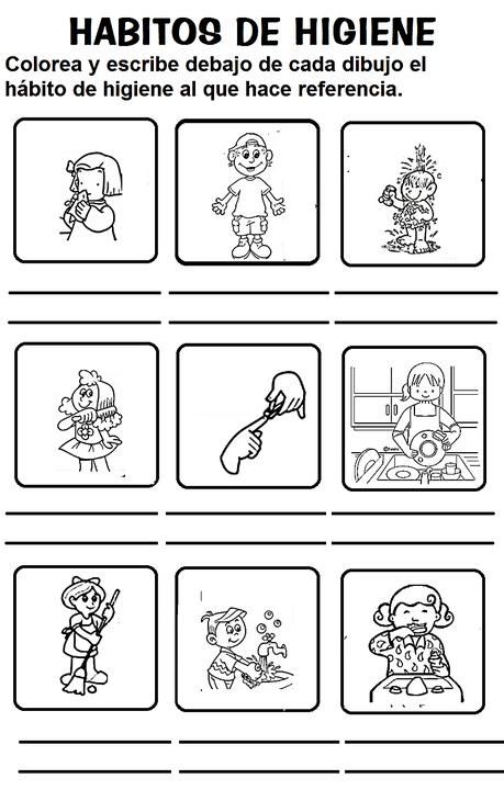 Resultado De Imagen De Fichas Habitos De Higiene Para Niños