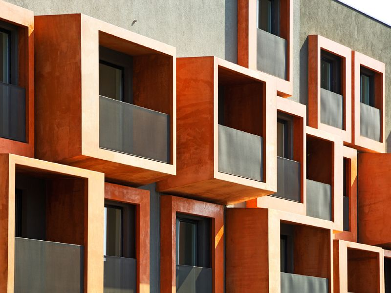 jurčkova Building front, Architecture, Architecture details
