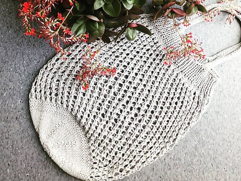 Easy Knitted Grocery Bags Free Patterns | Knitting bag ...