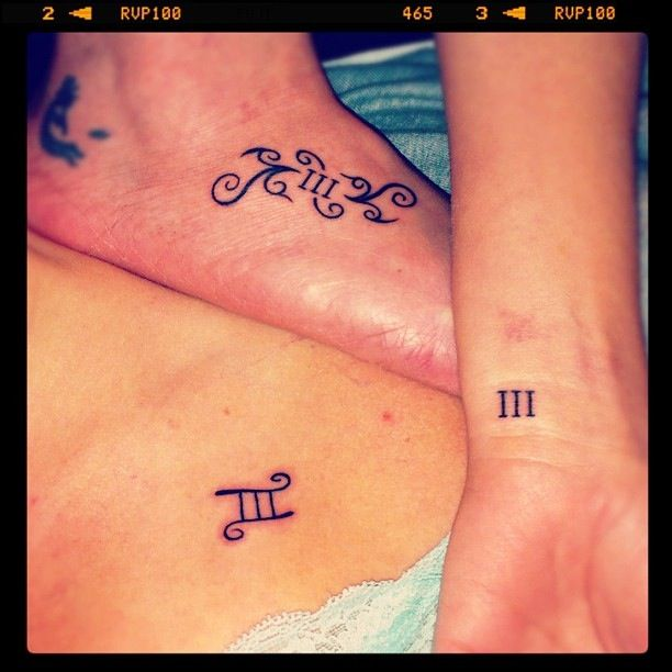 Three sisters tattoo totally stealing this idea for Sister tattoos for 3