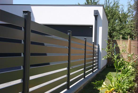 Vargo, une clôture alu à barreaux moderne à personnaliser. Nombre de ...