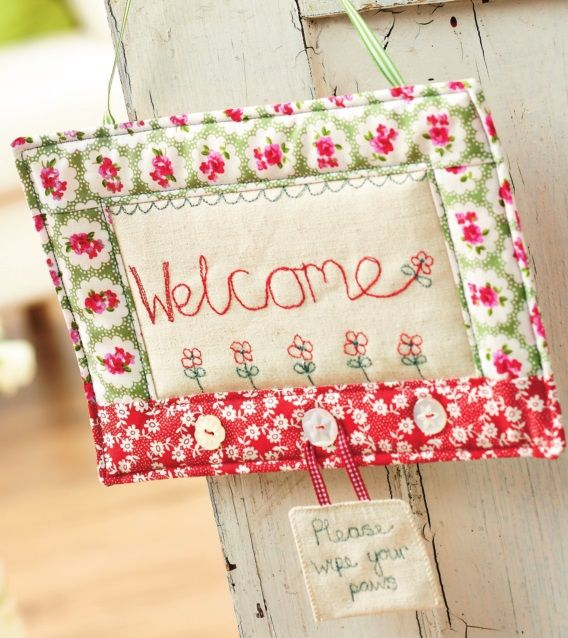 Free-hand stitch for the home with our designer sewing tutorial