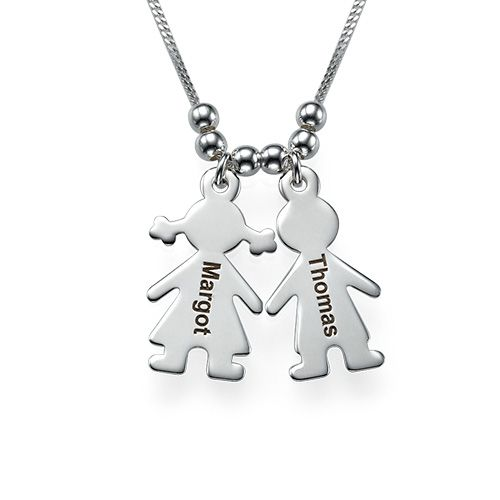 79b09488e Sterling Silver Mother's Necklace with Children Charms   Mommy stuff ...