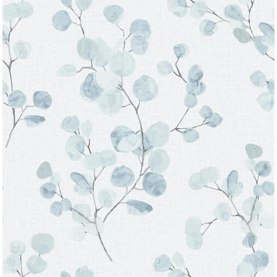 Scott Living 30 75 Sq Ft Blue Green Vinyl Ivy Vines Self Adhesive Peel And Stick Wallpaper Lowes Com Blue Floral Wallpaper Peel And Stick Wallpaper Blue Wallpapers