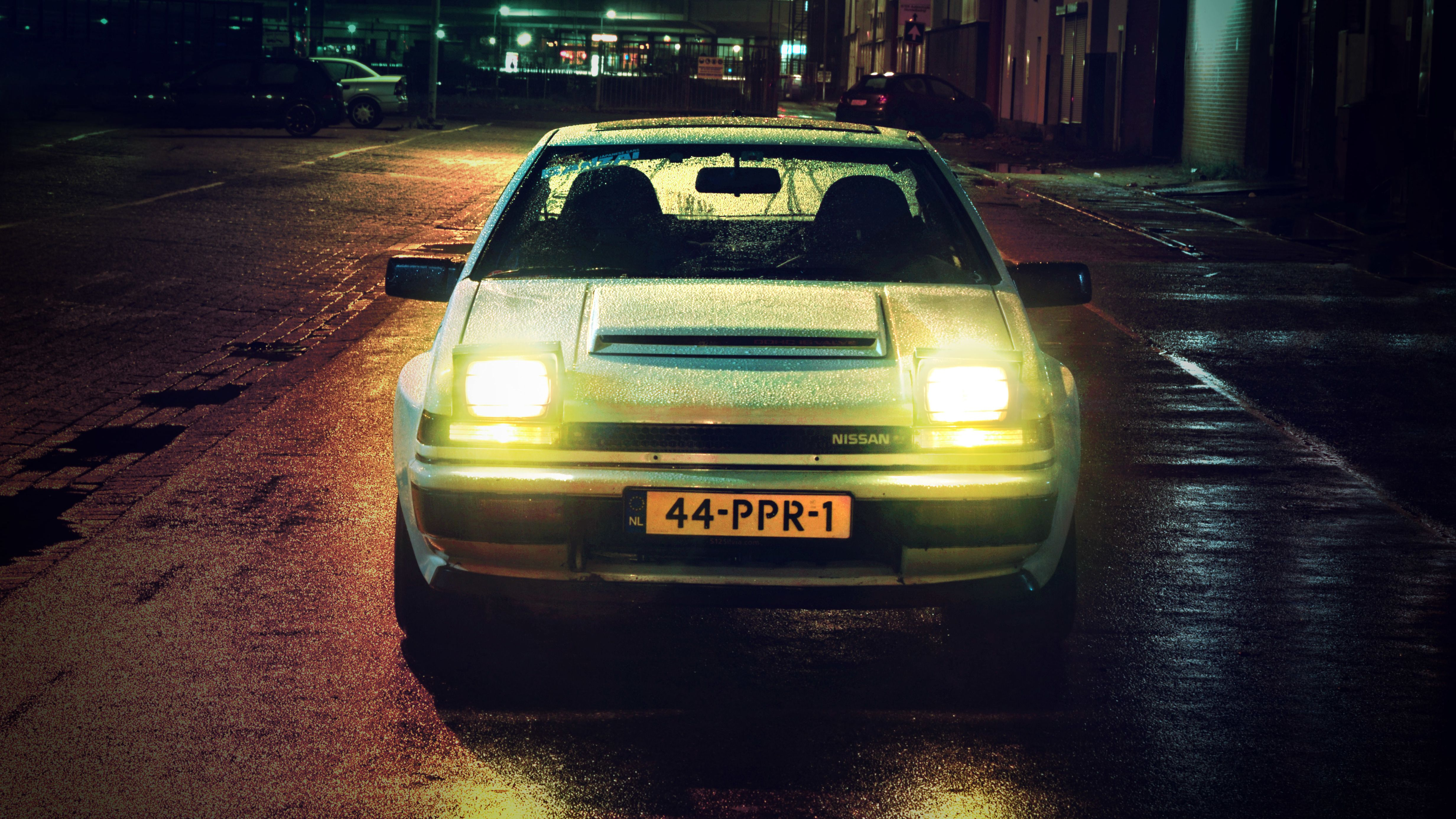 Nissan 200SX in the Night [4928 x 2772] WALLPAPERS