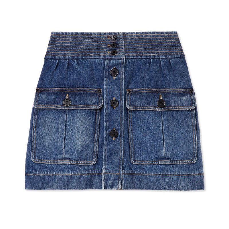 Chloe Denim Safari Skirt